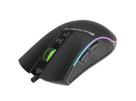 Marvo Myš M513, 6400DPI, optika, 7tl., 1 koliesko, drôtová USB,čierno-strieborná, herná, podsvietená