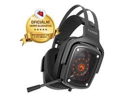 Marvo HG9046, slúchadlá s mikrofónom, ovládanie hlasitosti, čierna, TRUE 7.1surround, USB podsvietená