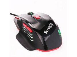 Marvo Myš M450, 6400DPI, optika, 7tl., 1 koliesko, drôtová USB,čierno-červená, herná, podsvietená