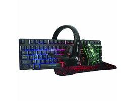 Marvo Sada klávesnica CM370, herná, čierna, drôtová (USB), CZ/SK, s hernoumyšou, podložkou a slúchadlami, membránová,