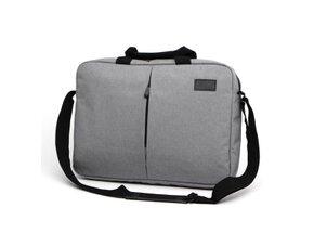 """Taška na notebook 15.6"""", NT013, šedá z polyesteru, vodeodolná s ramenným popruhom"""