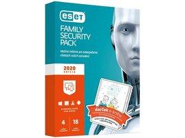 ESET Family Security Pack pre 4 zariadenia / 18 mesiacov