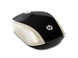 HP myš 200 Wireless Gold, 1000DPI, 2.4 [GHz], optická, 3tl.