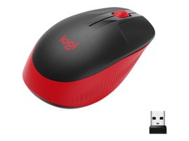 Logitech® M190 Full-size wireless mouse - RED - EM