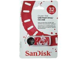 USB Flash SanDisk Cruzer Dial 32GB - bielo-cervená