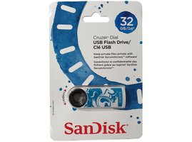 USB Flash SanDisk Cruzer Dial 32GB - bielo-modrá