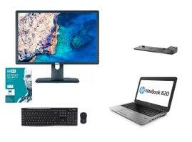 """HP EliteBook 820 G2 + 22"""" LCD + dock+klavesnica mys+Eset ( BUNDLE )"""