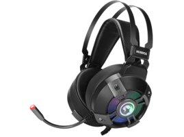 Marvo HG9015G, slúchadlá s mikrofónom, ovládanie hlasitosti, čierna, USB