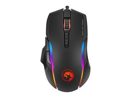 Marvo Myš G945, 10000DPI, optika, 9tl., 1 koliesko, drôtová USB, čierna, .A-D, B, herná, poškodený obal, RGB podsvieteni