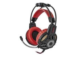 Redragon Lester herné slúchadlá s mikrofónom, ovládanie hlasitosti, čierno-červená, poškodený obal typ B, 2x 3.5 mm jack